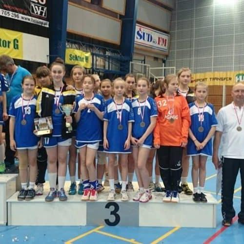 3 maja2014r zdobycie brązowego medalu na MP Dziewcząt trenerzy Malgorzata Buksakowska i Stanislaw Jaworski